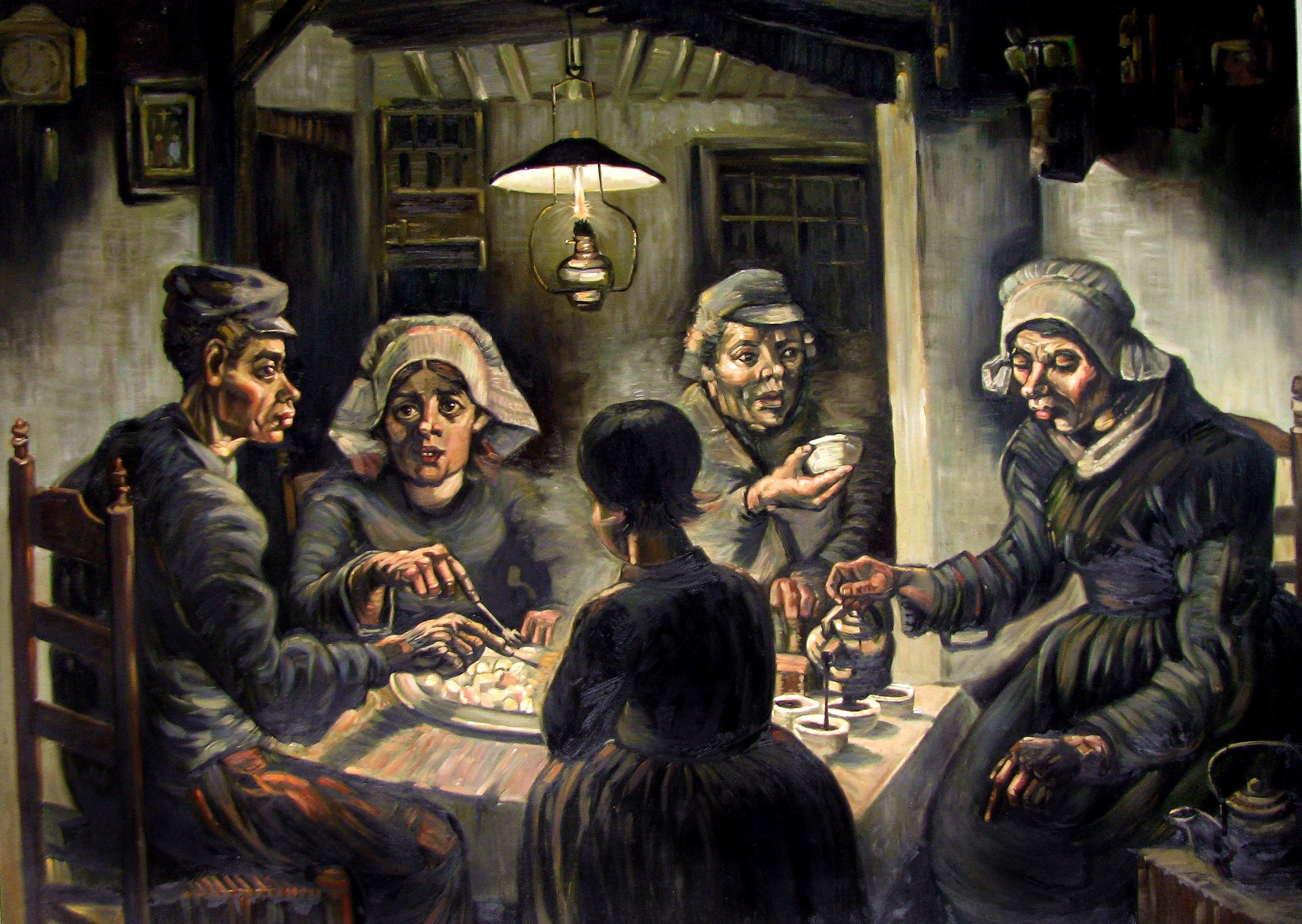 analysis of the potato eaters by vincent van gogh essay Art & critique articles on artists from various periods, including contemporary daily/frequent painters vincent van gogh's potato eaters.