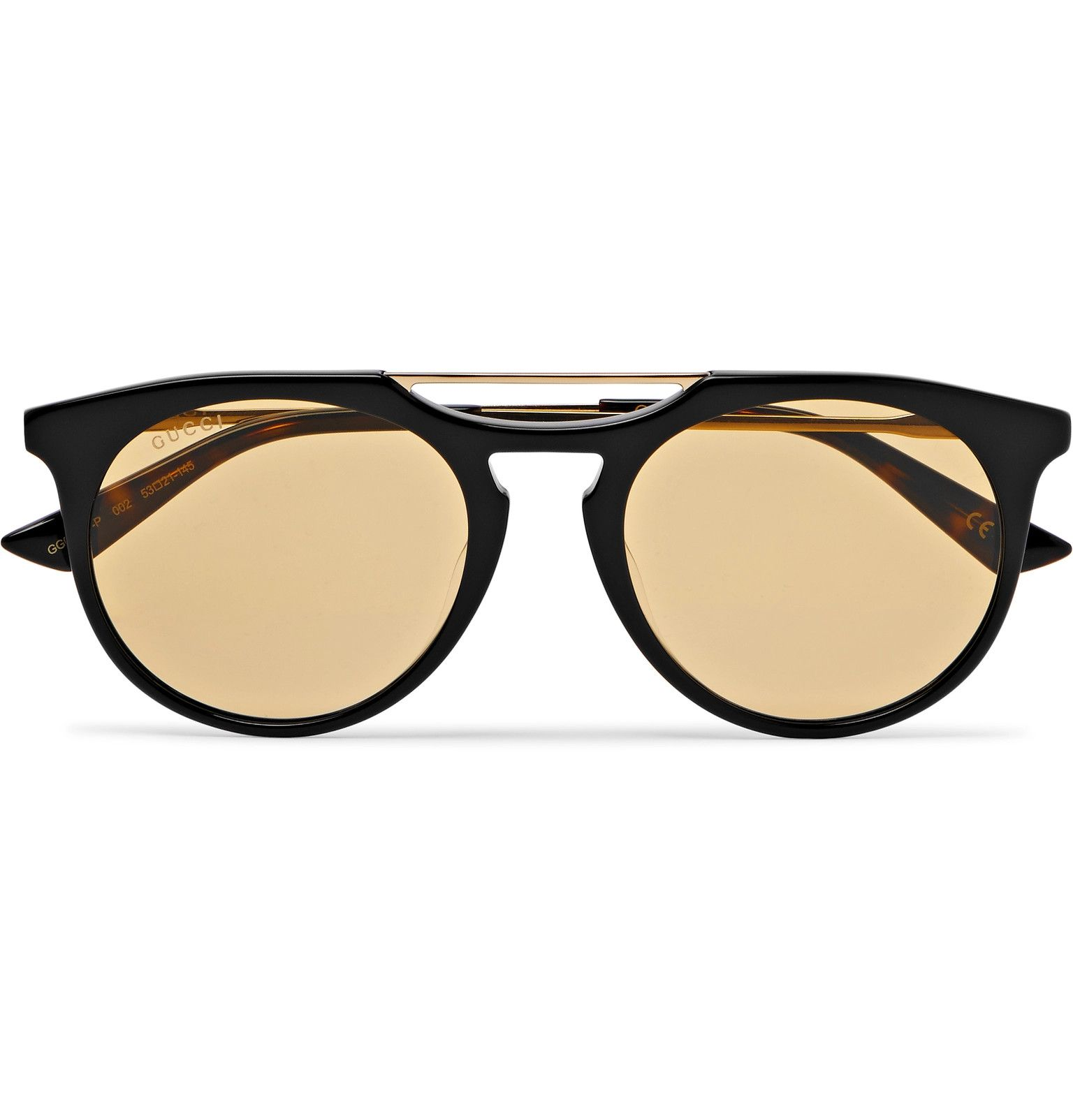 18bc3d8cf117 Gucci - Round-Frame Acetate and Gold-Tone Sunglasses | SPRING 20 ...