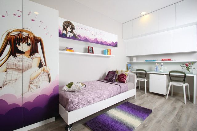 Eye catching cool rooms for girls with bold color accents amusing cool room for girl in - Special cool girls room ...