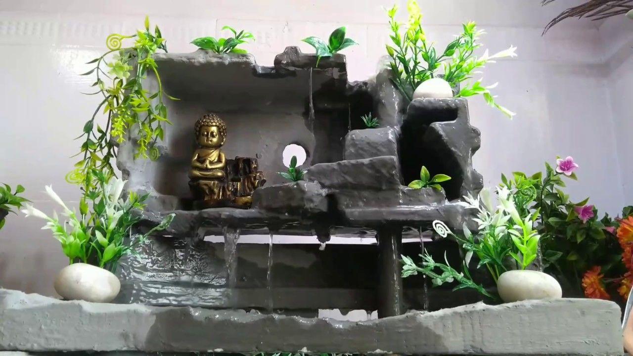 diy cement waterfall fountain
