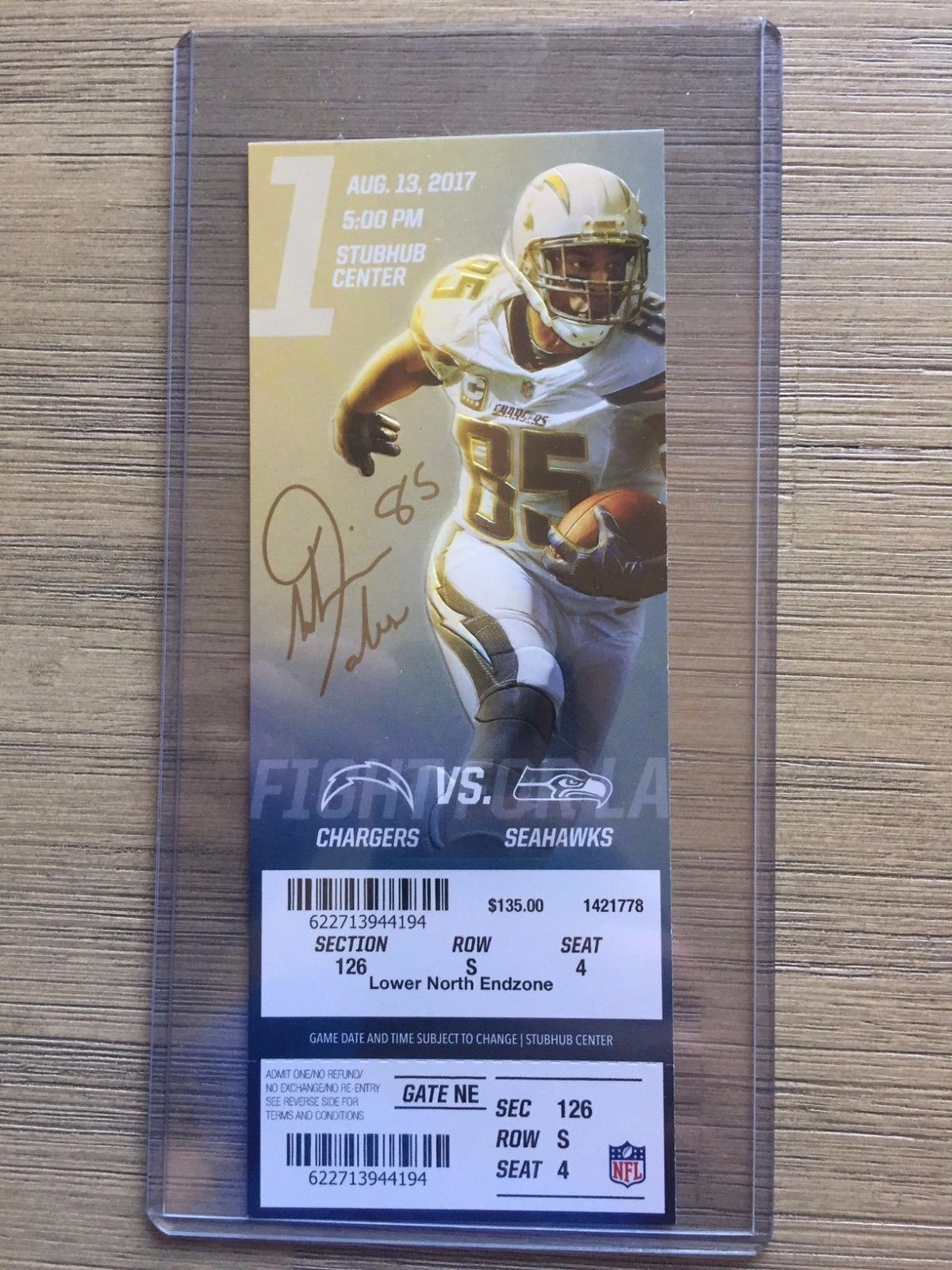 Details About 2017 Los Angeles Chargers Official Nfl Mint Season Ticket Stub Pick Any Game Ticket Design Sports Design Inspiration Los Angeles Chargers