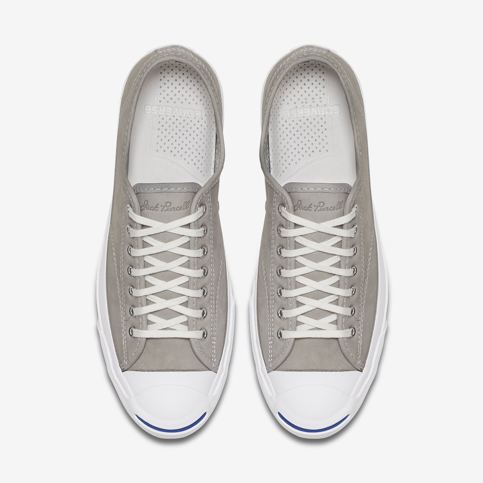 7c78735342a7 Converse Jack Purcell Signature Low Top Perforated Goat Leather White White  White