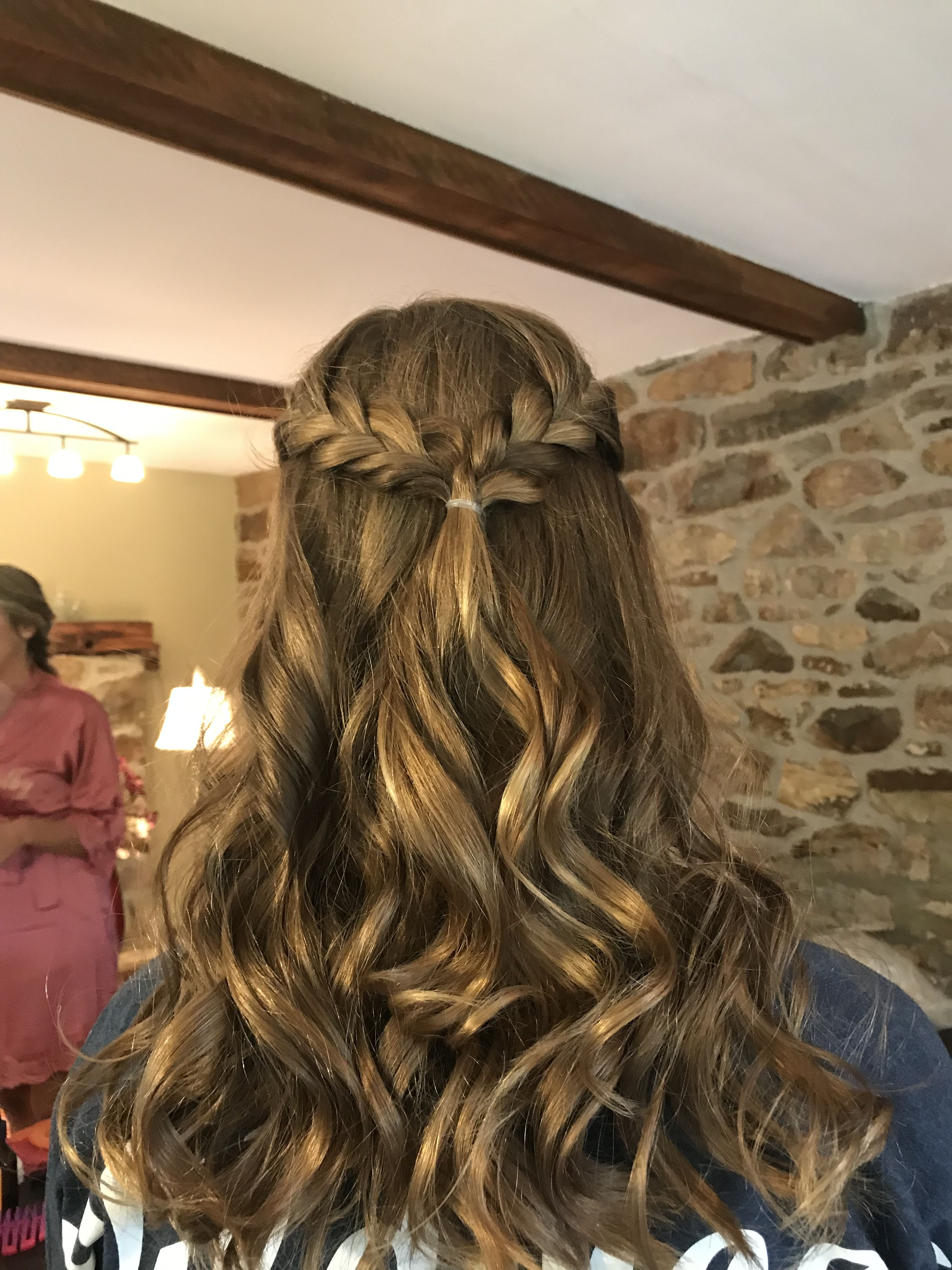 Cute hairstyle braided half up half down