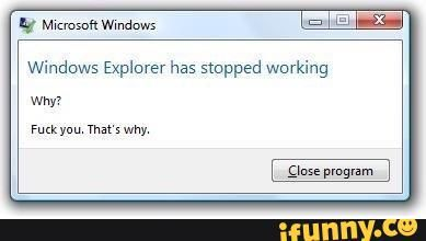 "Windows: ""F U!!"""