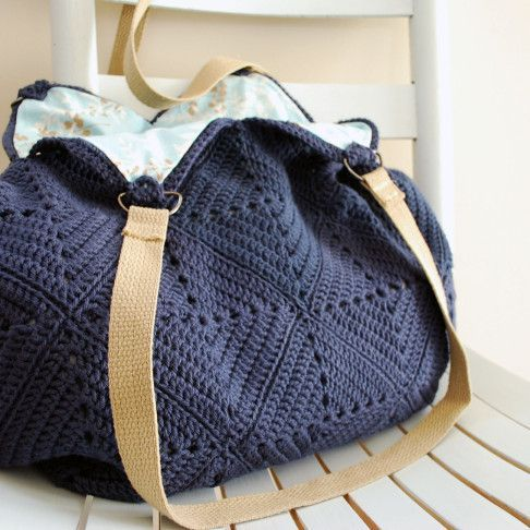 Crochet Tote Bag Patterns Best Free Collection | Asas, Ganchillo y ...