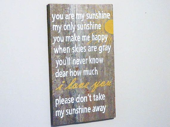 You Are My Sunshine Wall Art barn wood - you are my sunshine sign - my sunshine nursery wall