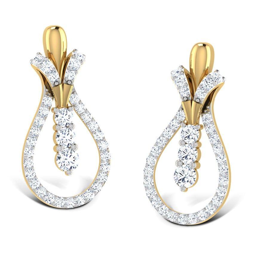 Caratlane Stunning Silver Drop Earrings: Buy Caratlane