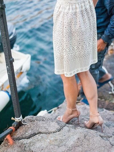 Fab dress: http://www.stylemepretty.com/little-black-book-blog/2015/02/26/ischia-waterfront-engagement-session/ | Photography: Taylor Barnes - http://www.taylorbarnesphotography.co.uk/