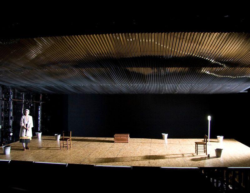 The Storm. NYU Graduate Acting, Fifth Floor Theater. Scenic design by Brett J. Banakis.