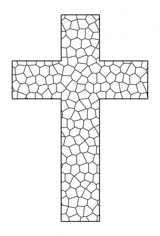 Cross Coloring Page : cross, coloring, Printable, Cross, Coloring, Pages, Page,, Christian, Coloring,