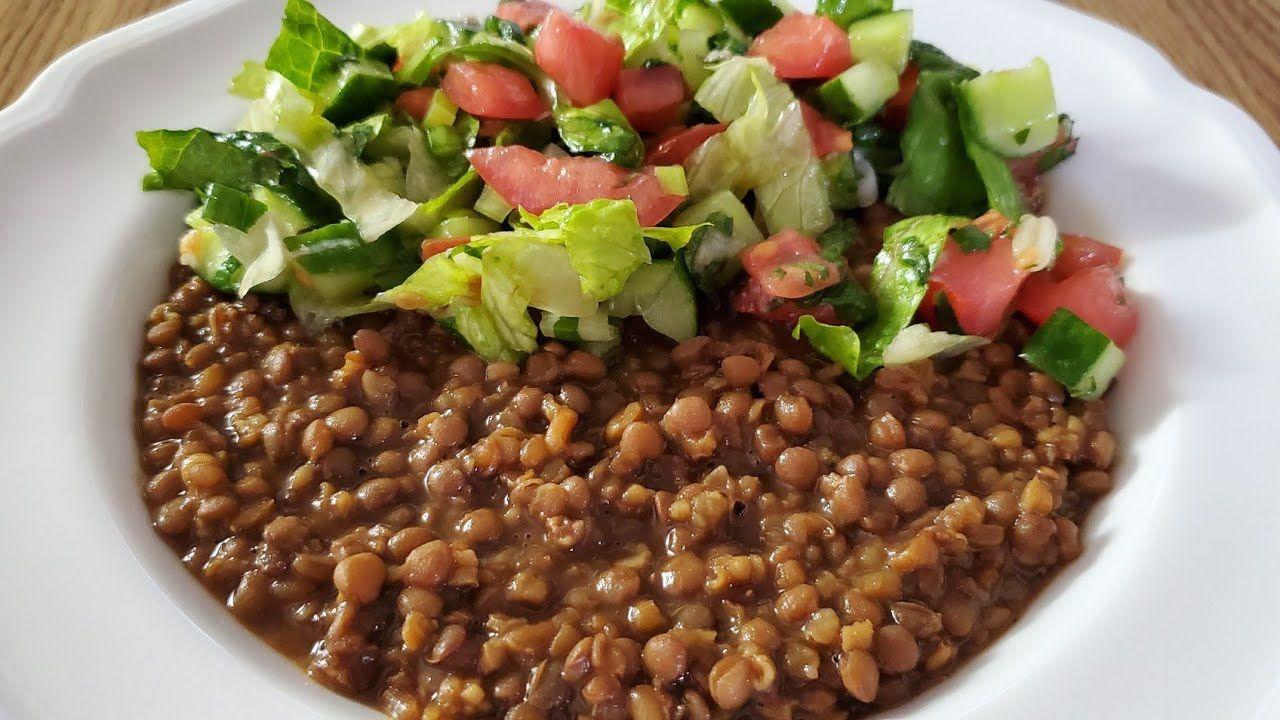 طريقة تحضير مجدرة حمرا جنوبية Best Vegan Mujadara Hamra Youtube Family Dinner Food Dinner