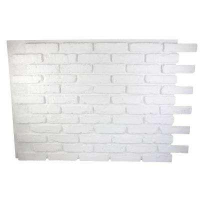 Dove White 32 In X 47 In X 3 4 In Faux Reclaimed Brick Panel Faux Brick Walls Faux Brick Brick Paneling