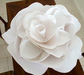 Large Paper Handmade Roses for Decor
