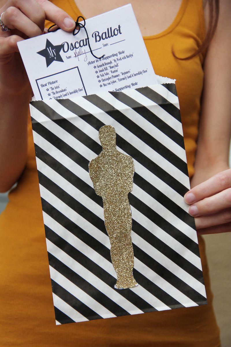 Oscar Party Diy Free Printable Ballot