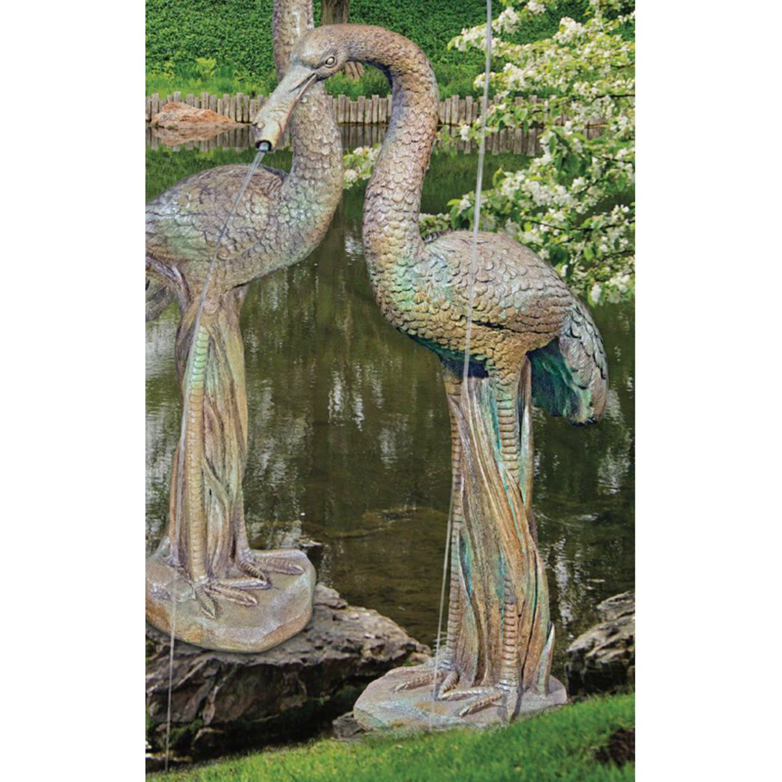 Henri Studio Female Crane Garden Statue Garden Gnomes 400 x 300