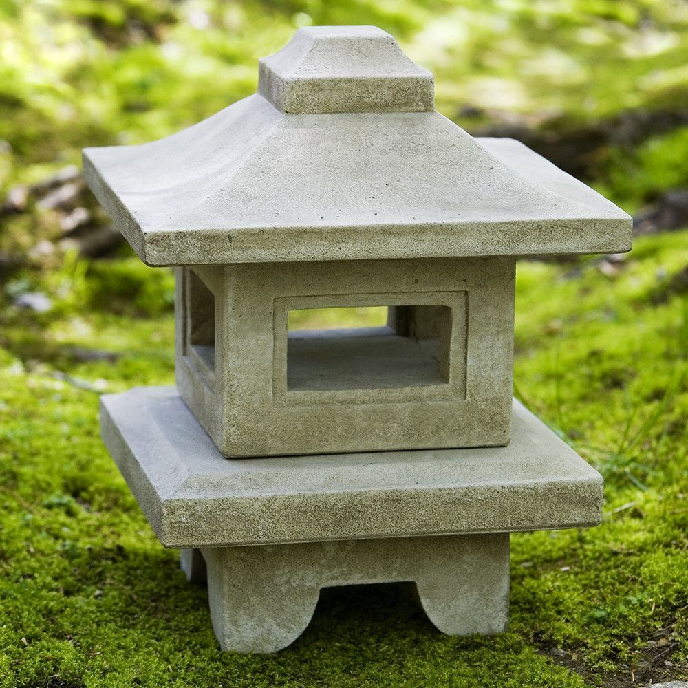 Square Japanese Lantern Sculpture - Green Patina | Garden ... for Japanese Lantern Square  55dqh