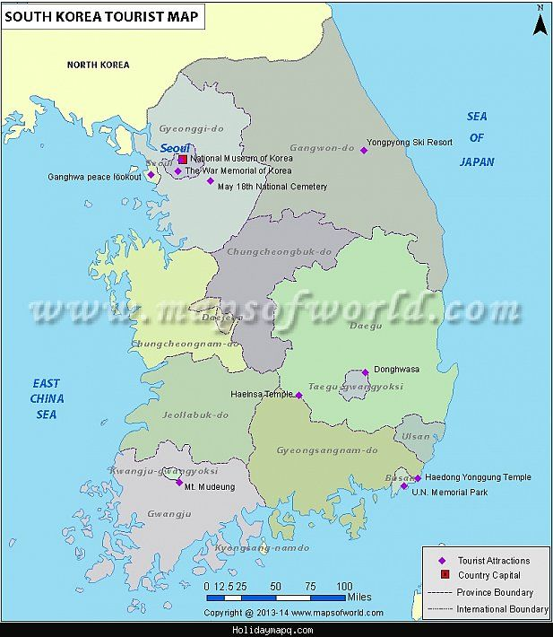 awesome Map of South Korea Tourist Holidaymapq Pinterest South