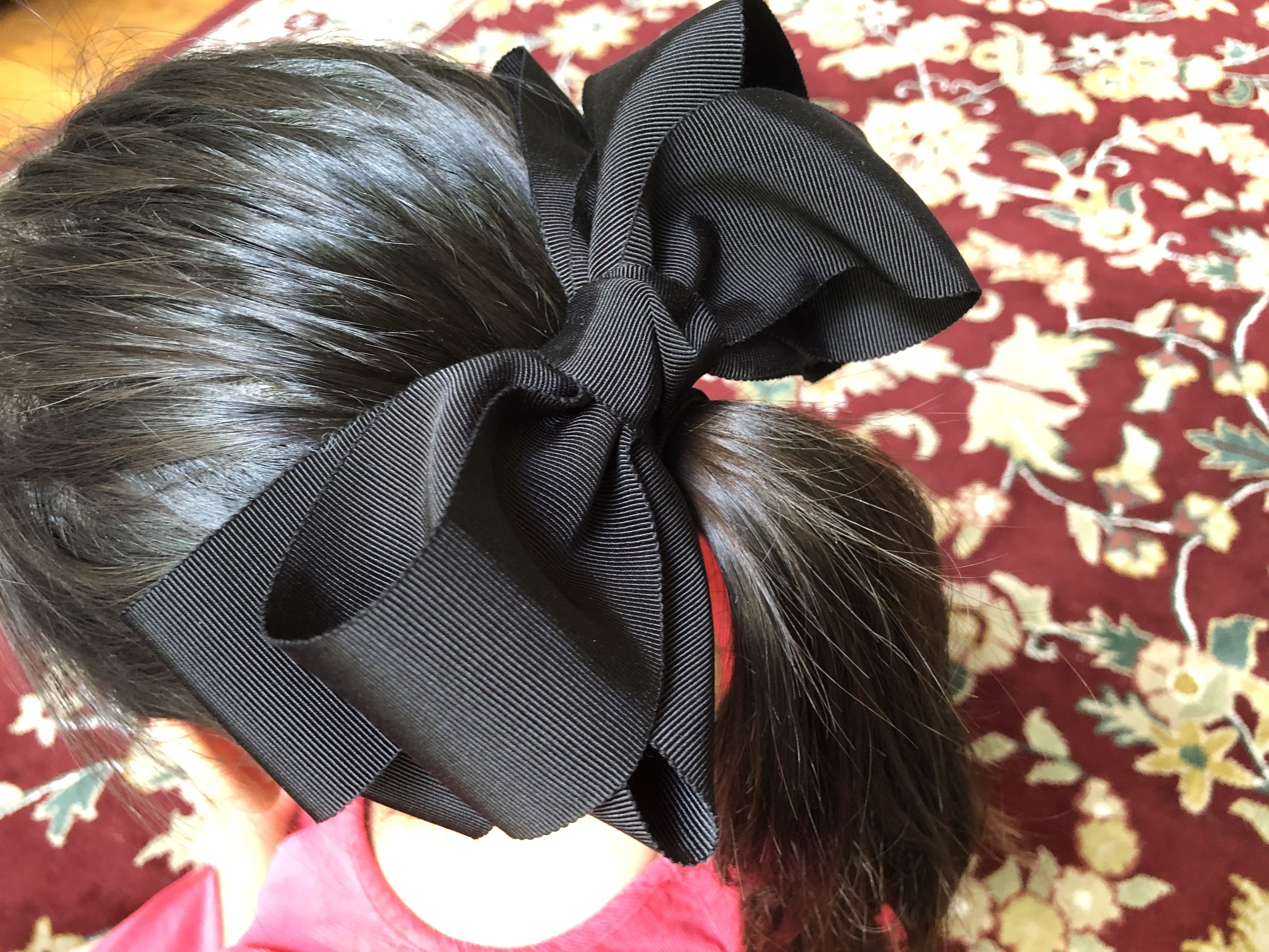 Big Black Hair Bow
