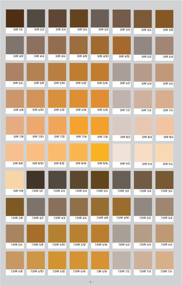 Munsell 05 Munsell Color System Pantone Color Color Chart