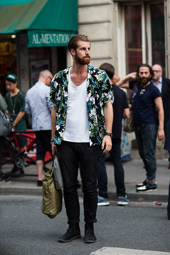 4844af13 Hawaiian shirts are back on the street - in Paris | My Style | Fashion,  Floral shirt outfit, Mens hawaiian shirts
