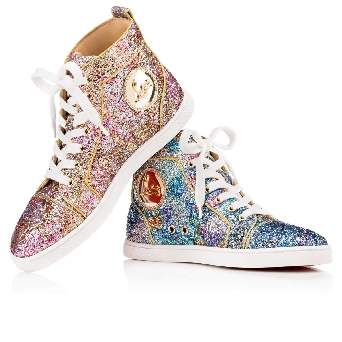 top design genuine shoes temperament shoes Christian Louboutin Bip Bip Women's Version Horizon Glitter | Bip bip