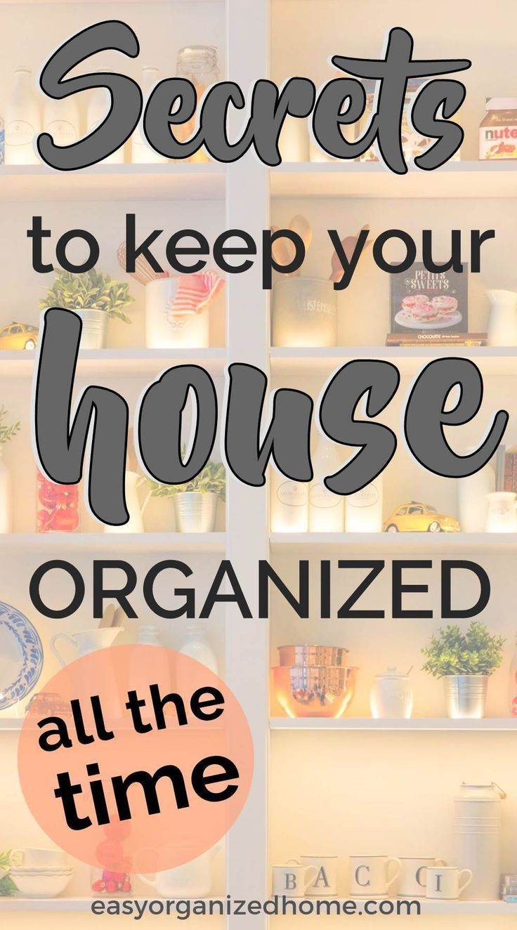 14 Secrets For An Organized Home images