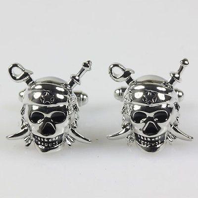 Skull /& Swords Pirate Cufflinks with Presentation Box