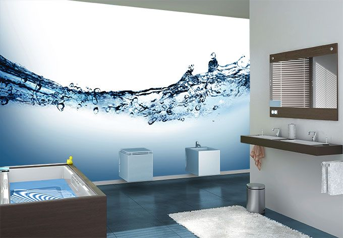 Fotobehang Water Zelfklevend Fotobehang Badkamer Fotowand Fotowand