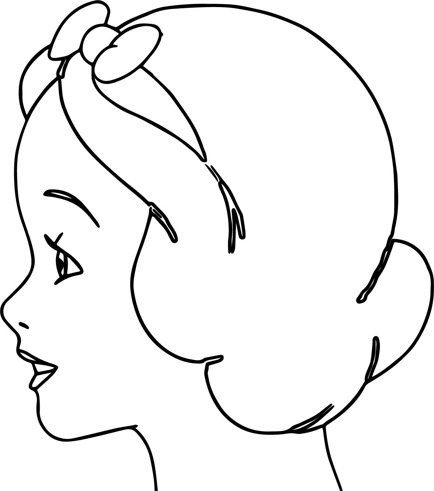 Nice Snow White Side Face Coloring Page Coloring Pages Snow