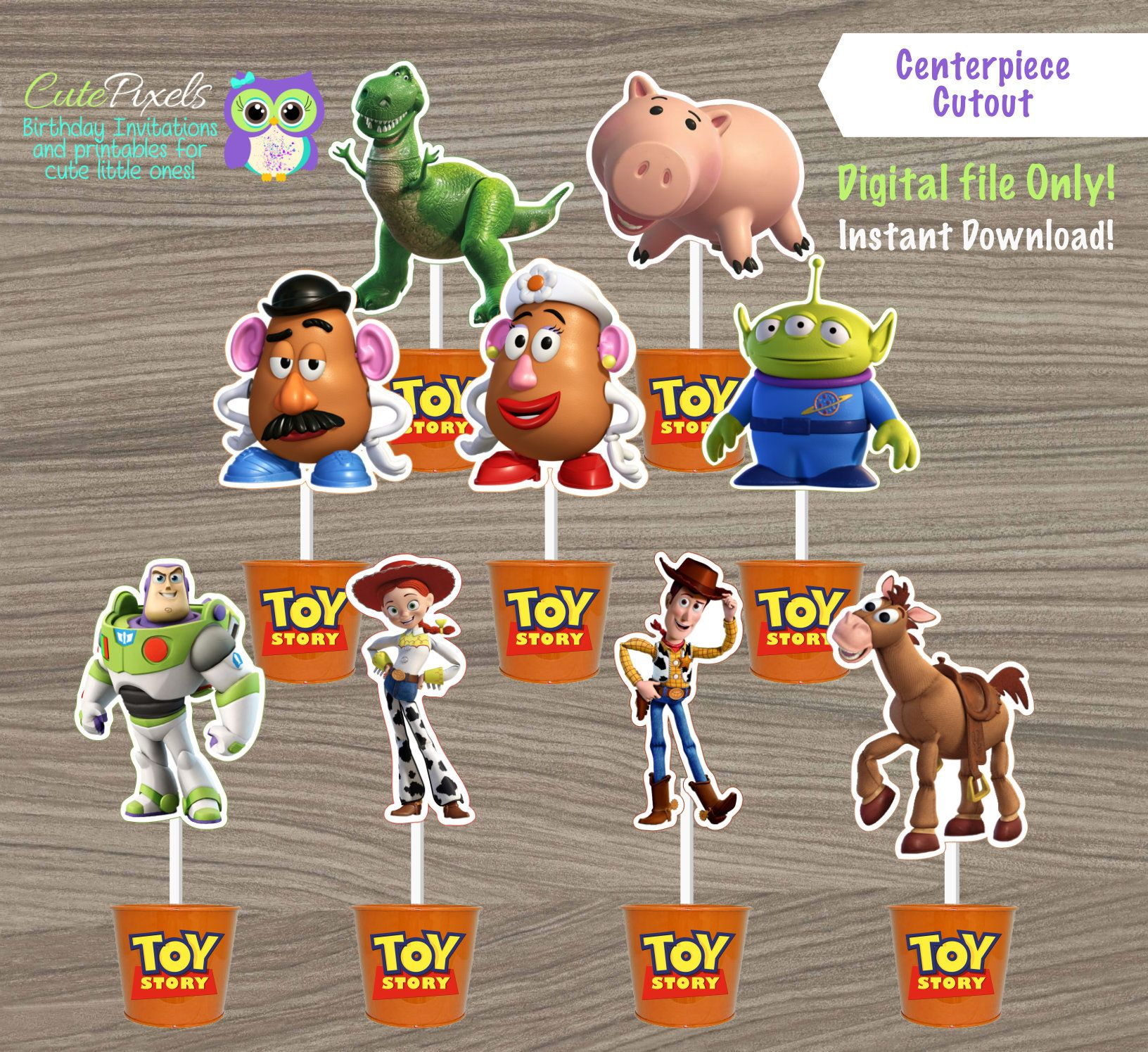 Toy Story Centerpiece Toy Story Cake Topper Toy Story Toppers