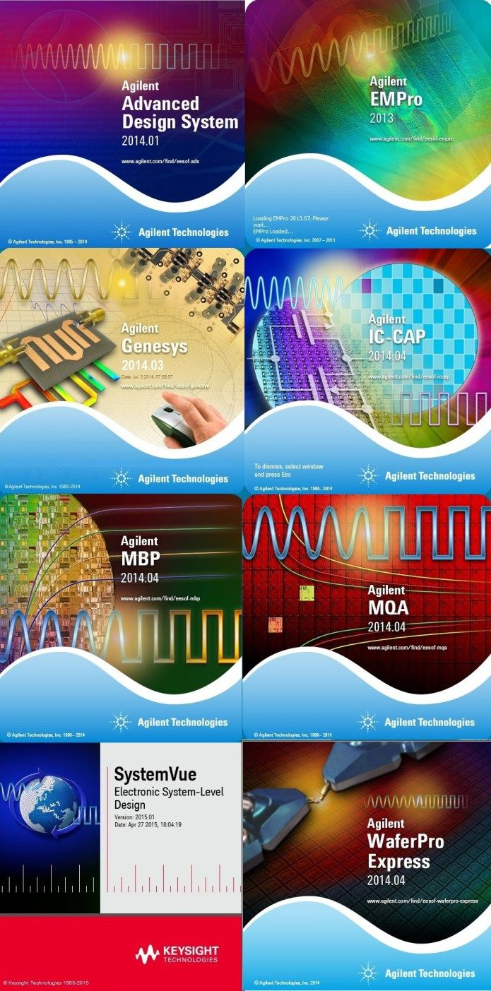 Keysight Suite 2014-2015 (ADS,EMPro,WaferPro,IC-CAP,SystemVue,MBP