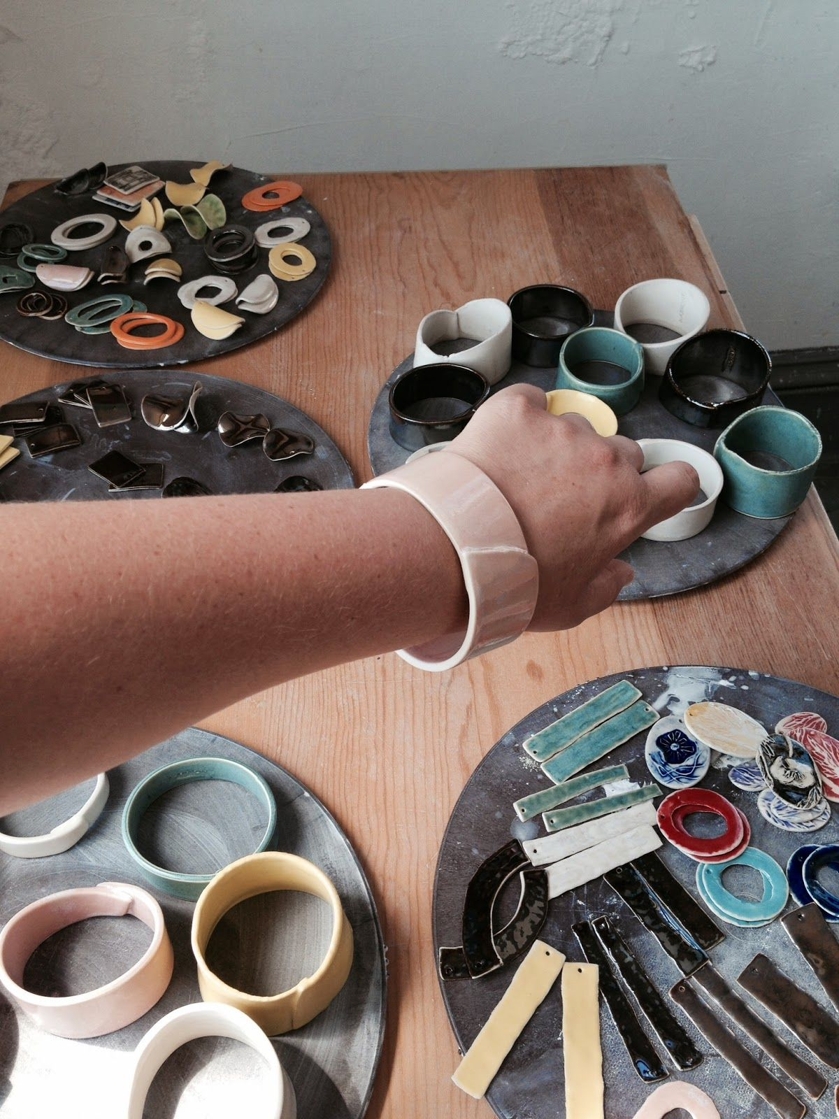 Harmony Thompson - Artist and Educator: cuff bracelets and earrings
