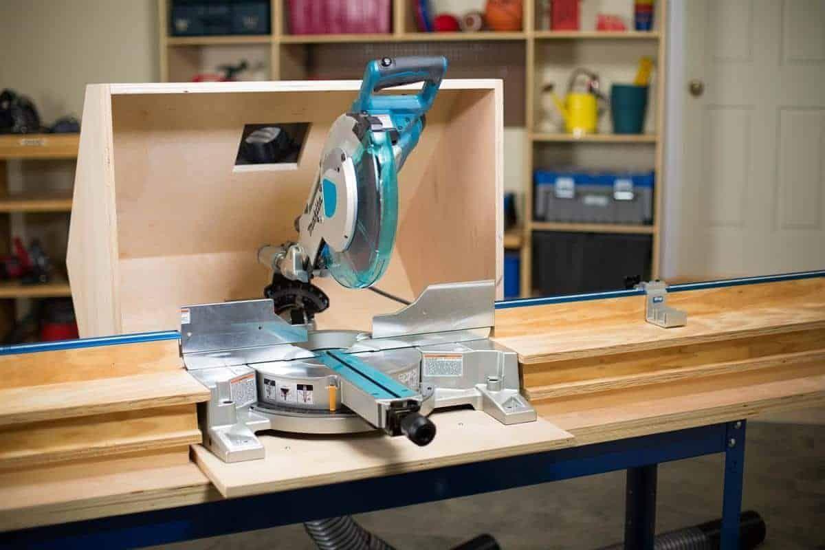 7 Genius Ways To Improve Miter Saw Dust Collection With Images Mitre Saw Dust Collection Woodworking Miter Saw