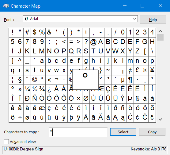 How To Insert The Degree Symbol On Windows 10 Character Map Word Symbols Investing