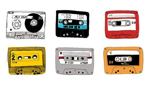 no school like the vintage cassette tapes illustrated by Oda Valle :: via soldierjane