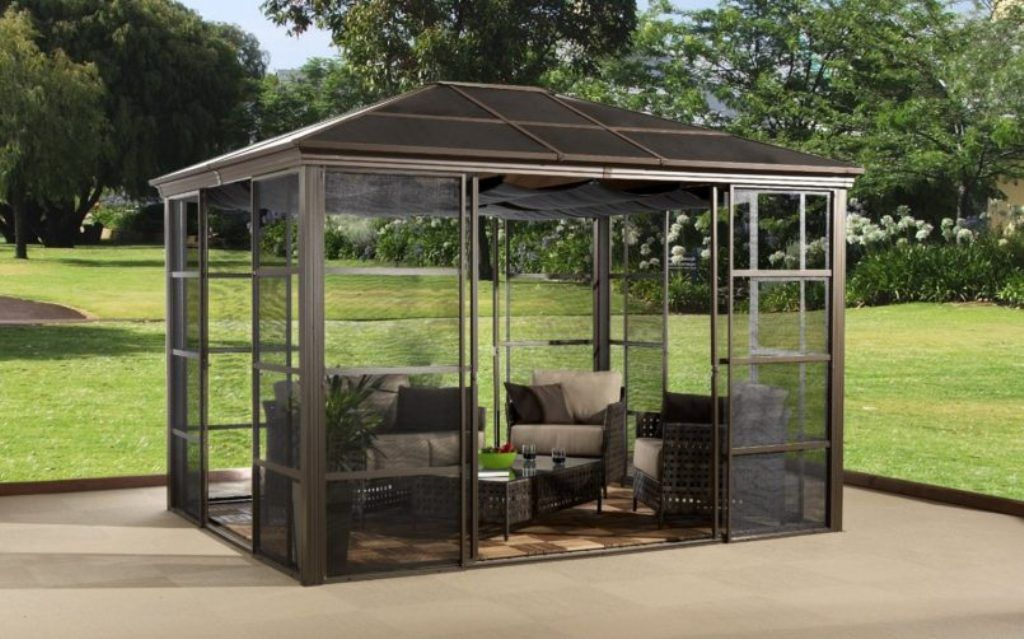Exterior Varnished Hardtop Grill Gazebo Instructions And Hardtop Gazebo With Gutters From Anything About Hardto Aluminum Gazebo Portable Gazebo Hardtop Gazebo