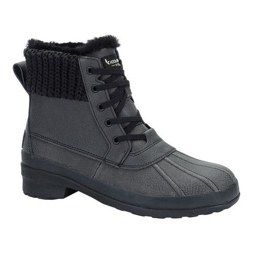 f7c78af8f8d Women's Koolaburra by UGG Sylia Boot - Black Leather Boots ...