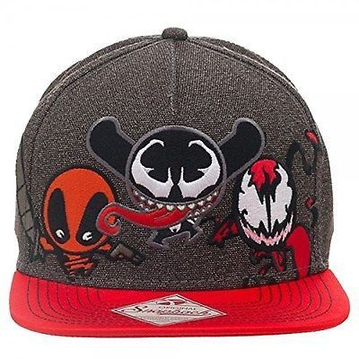 844cd6ec980 Marvel Comics Kawaii Villains Venom Deadpool Carnage Snapback Hat ...