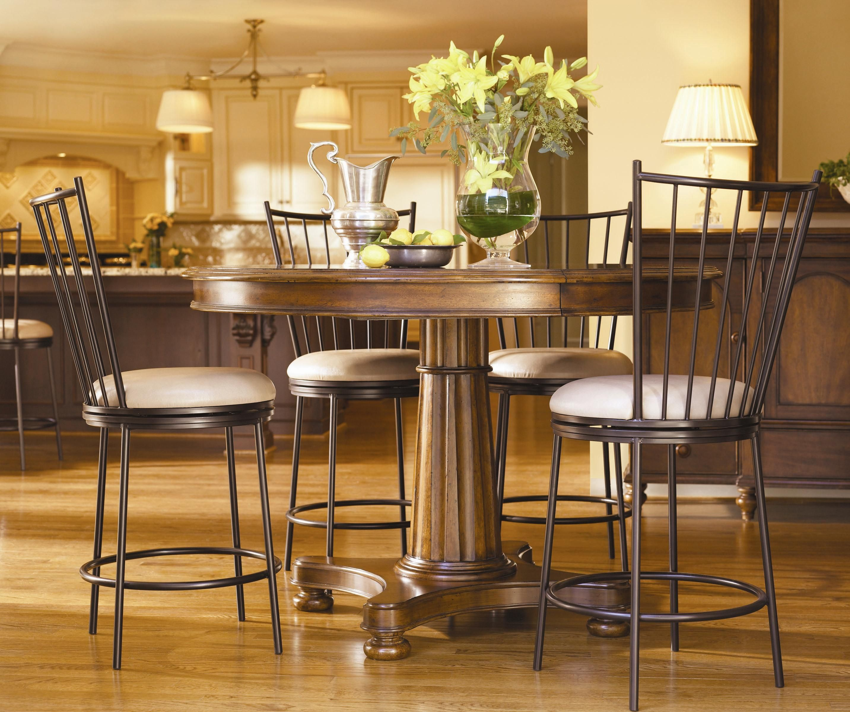 Governor's Place Adjustable Height Table w/ Counter Chairs ...