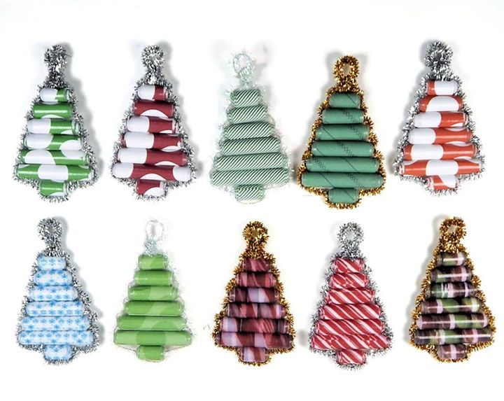 How To Make A Sparkly Paper Bead Christmas Tree Ornament Paper