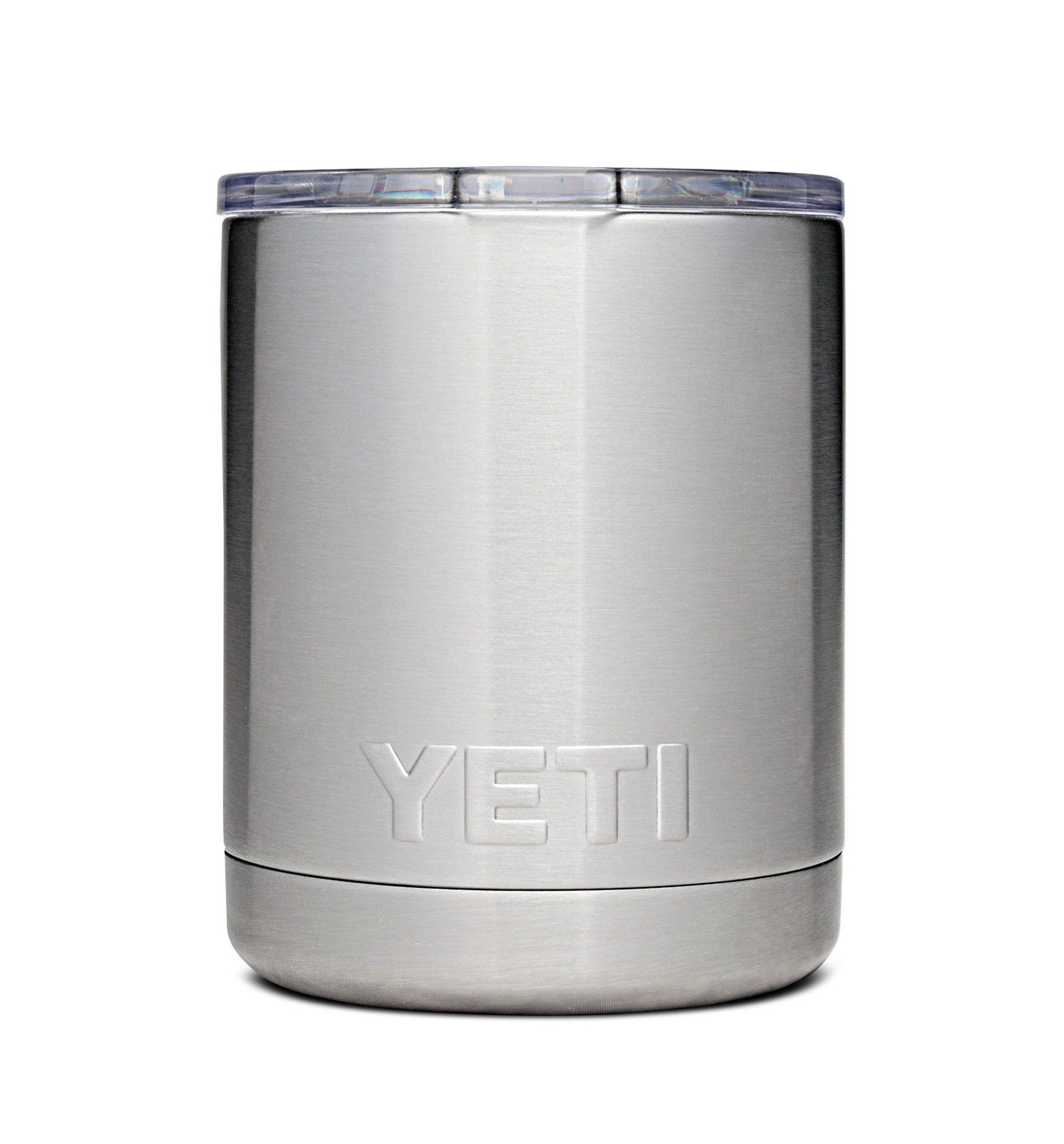 Yeti Rambler, Low ball/ Lid 10 oz Stainless Yeti lowball