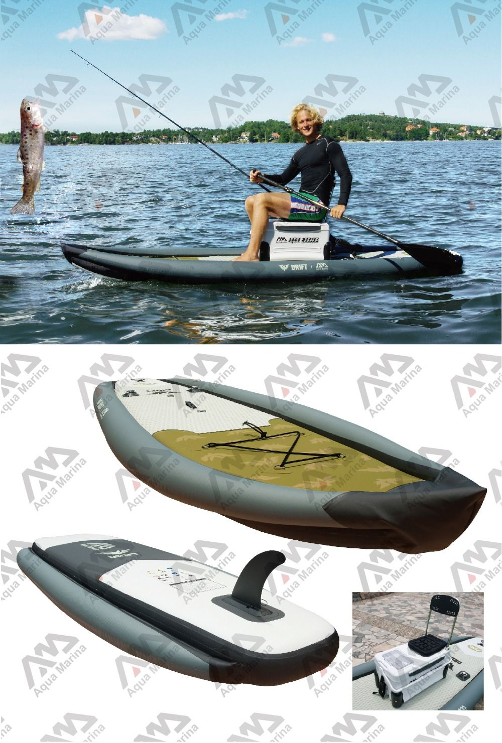 Fishing sup fishing board stand up paddle board for Inflatable fishing paddle board