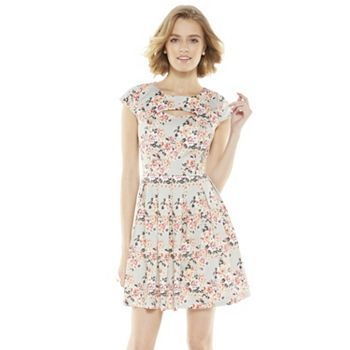 LC Lauren Conrad Floral Fit and Flare Dress, $44.80 {cute pattern}