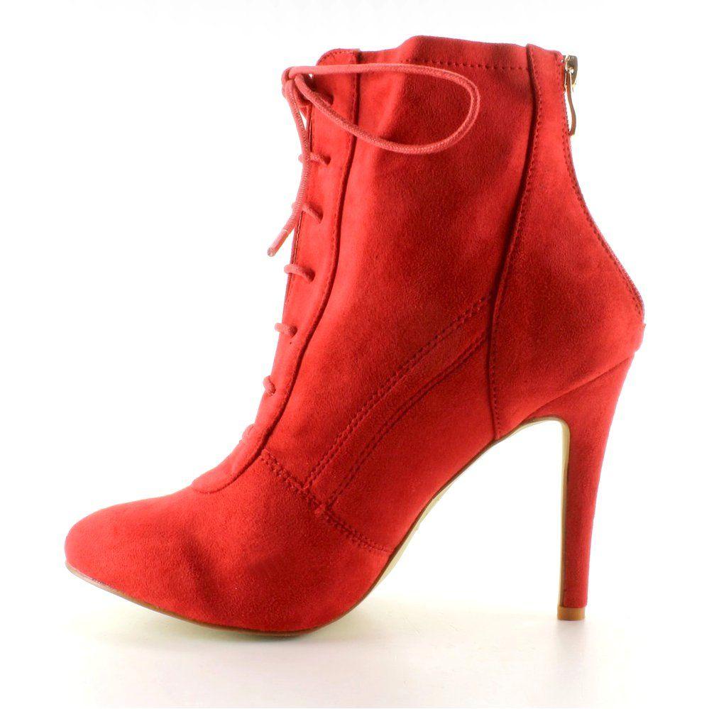 5d58417c2a1c3 na damskie obcasie botki czerwone Botki obuwiedamskie zTCOnq