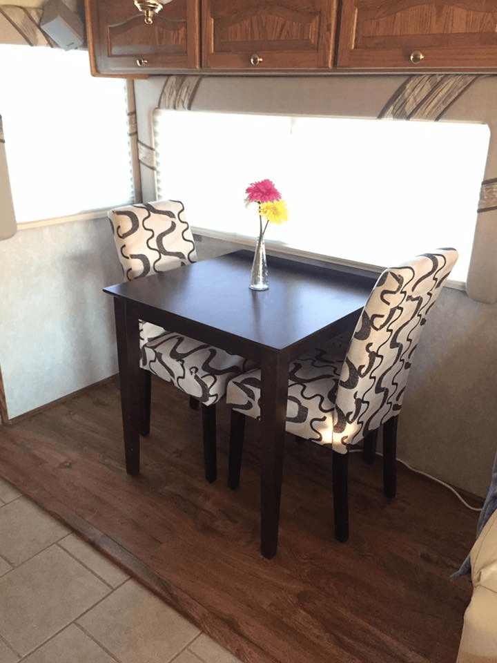 Travel Trailer Ideas Love Your In 2020 Dining Booth Remodeled Campers Camper Kitchen