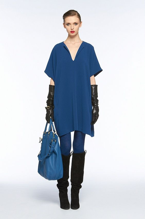 DVF Squaretan Dress in Liquid Blue. Size M. Retail $325. Modo Price $195! www.modoboutique.com