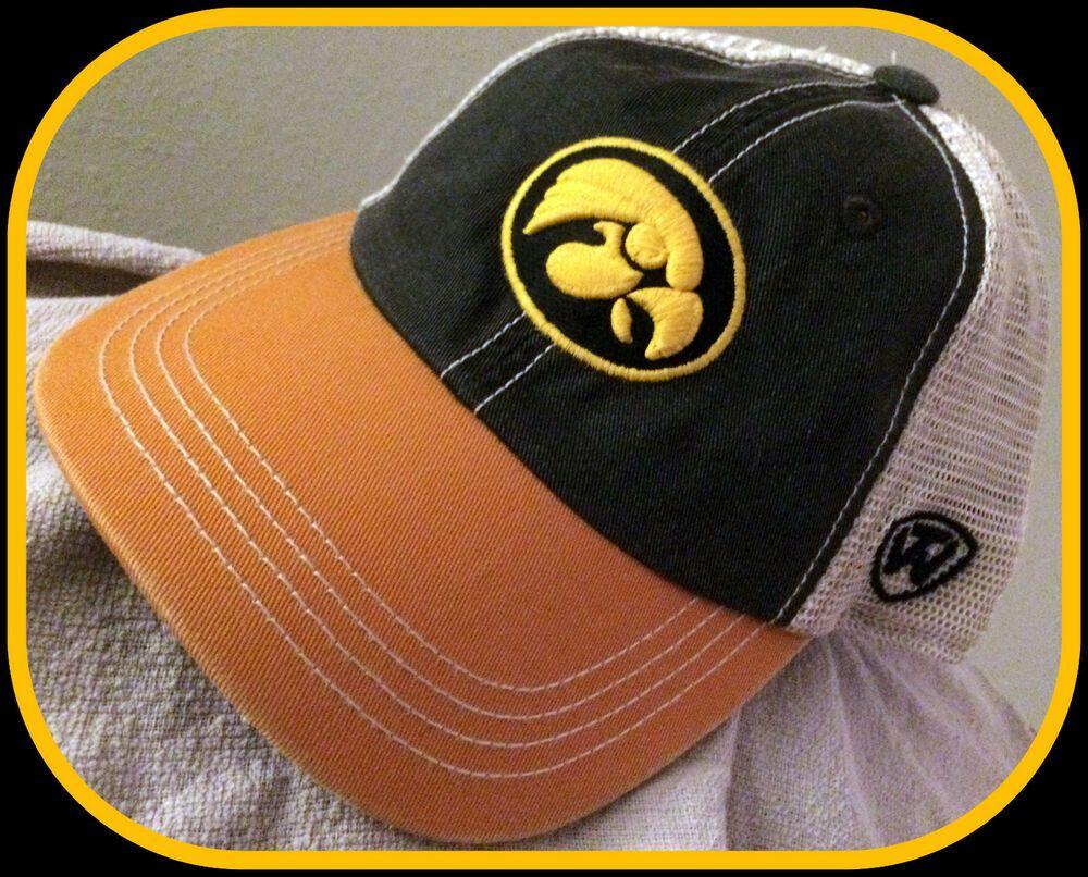 Iowa hawkeyes top of the world snapback mesh back youth