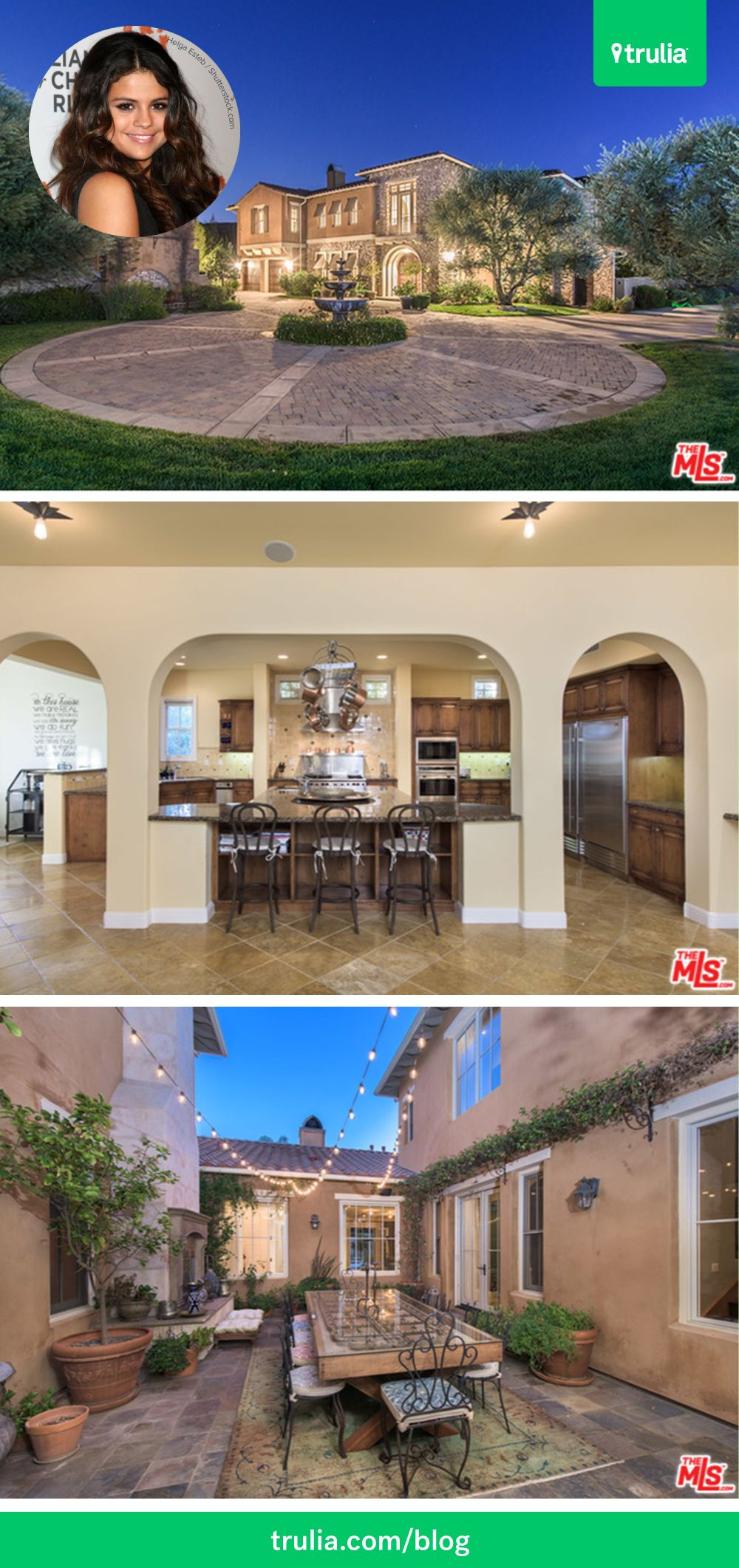 Selena Gomez Has Put Her Six Bed, Seven Bath Mediterranean Style Home