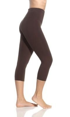 6cd5e41adad246 Lysse Leggings Brown Basic Capri Shapewear Tummy Control Stretch Slimming  Pant | eBay