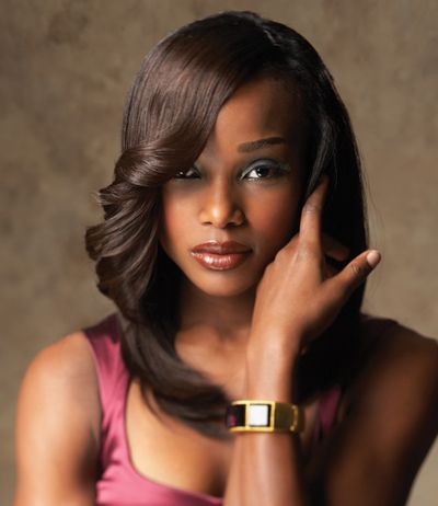 Awe Inspiring Sew In Styles Hair Weaves And Black Women Hair On Pinterest Hairstyles For Women Draintrainus